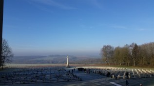 It stands over a Franco-British cemetery.