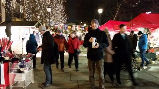 It was accompanied by a Christmas-style market.