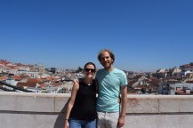 We went up the arch to get a panoramic view of the city.
