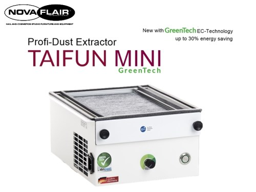 Taifun Mini Nail Dust Extractor/Collector & Odour Filtration System Nova Flair UK