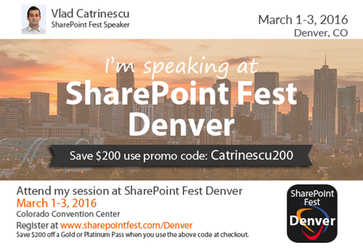 SharePoint Fest Denver