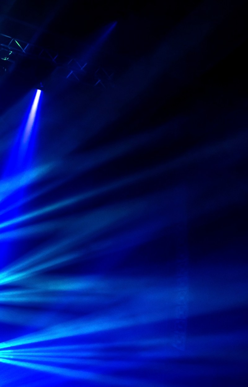Blue stage light, abstract background, illuminated dance club, night performance, laser illumination, luxury rock concert projector