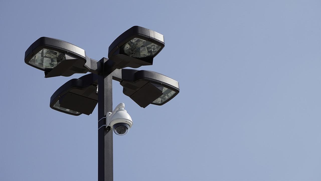 camera, parking lot, surveillance