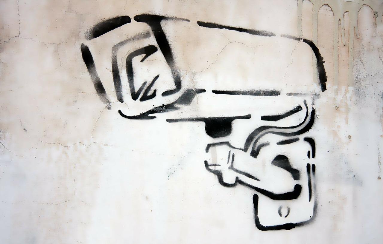 camera, graffiti, security