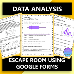 Data Analysis Digital Escape Room Google Forms