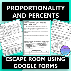 Proportions and Percents Escape Room Google Forms