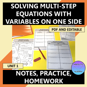 Solving Multi-Step Equations with Variables on One Side