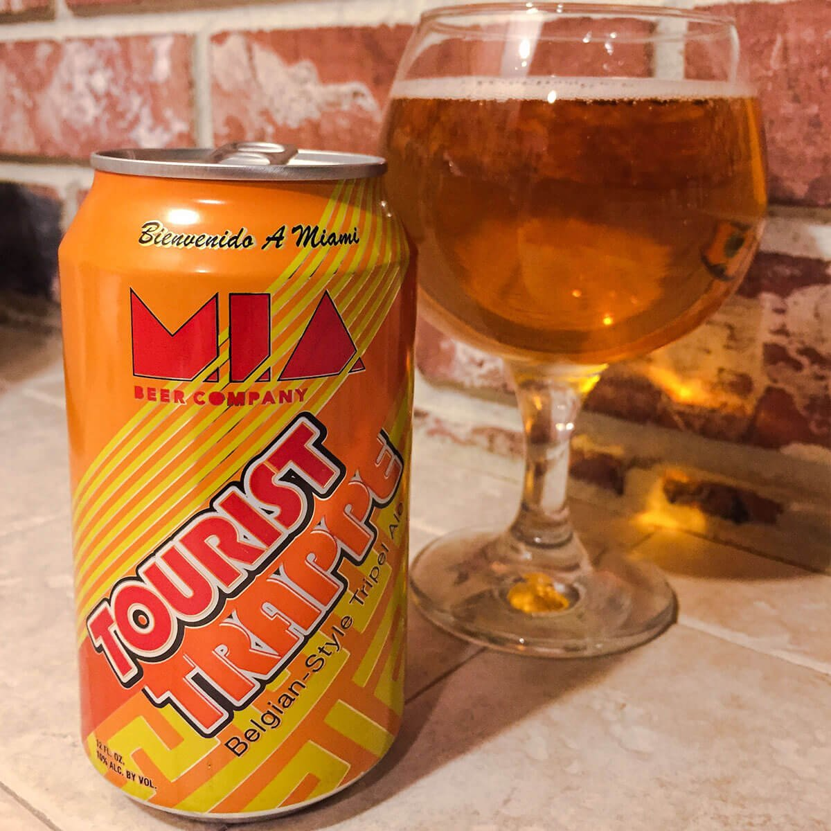 Tourist Trappe, a Belgian-style Tripel by MIA Beer Co.