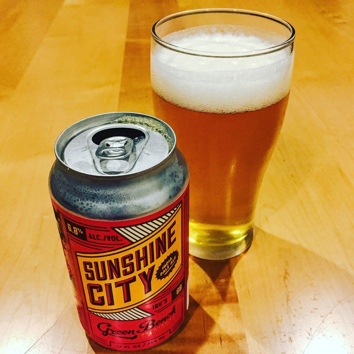 Sunshine City IPA, American IPA by Green Bench Brewing Co.
