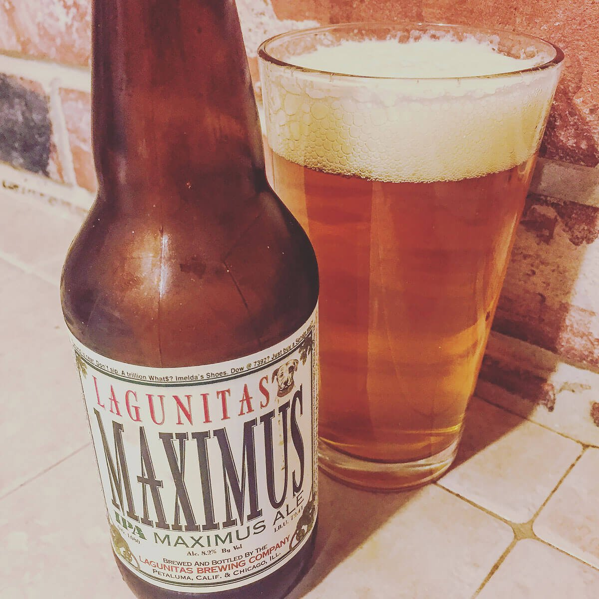 Maximus Ale, an American Double IPA by Lagunitas Brewing Company