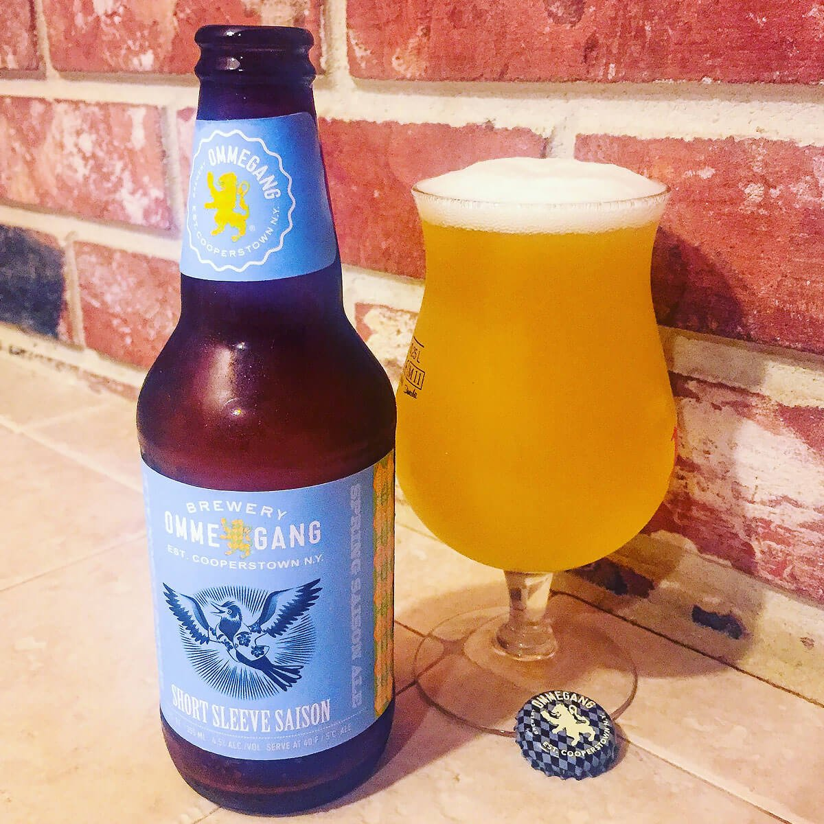 Short Sleeve Saison, a Belgian-style Saison by Brewery Ommegang
