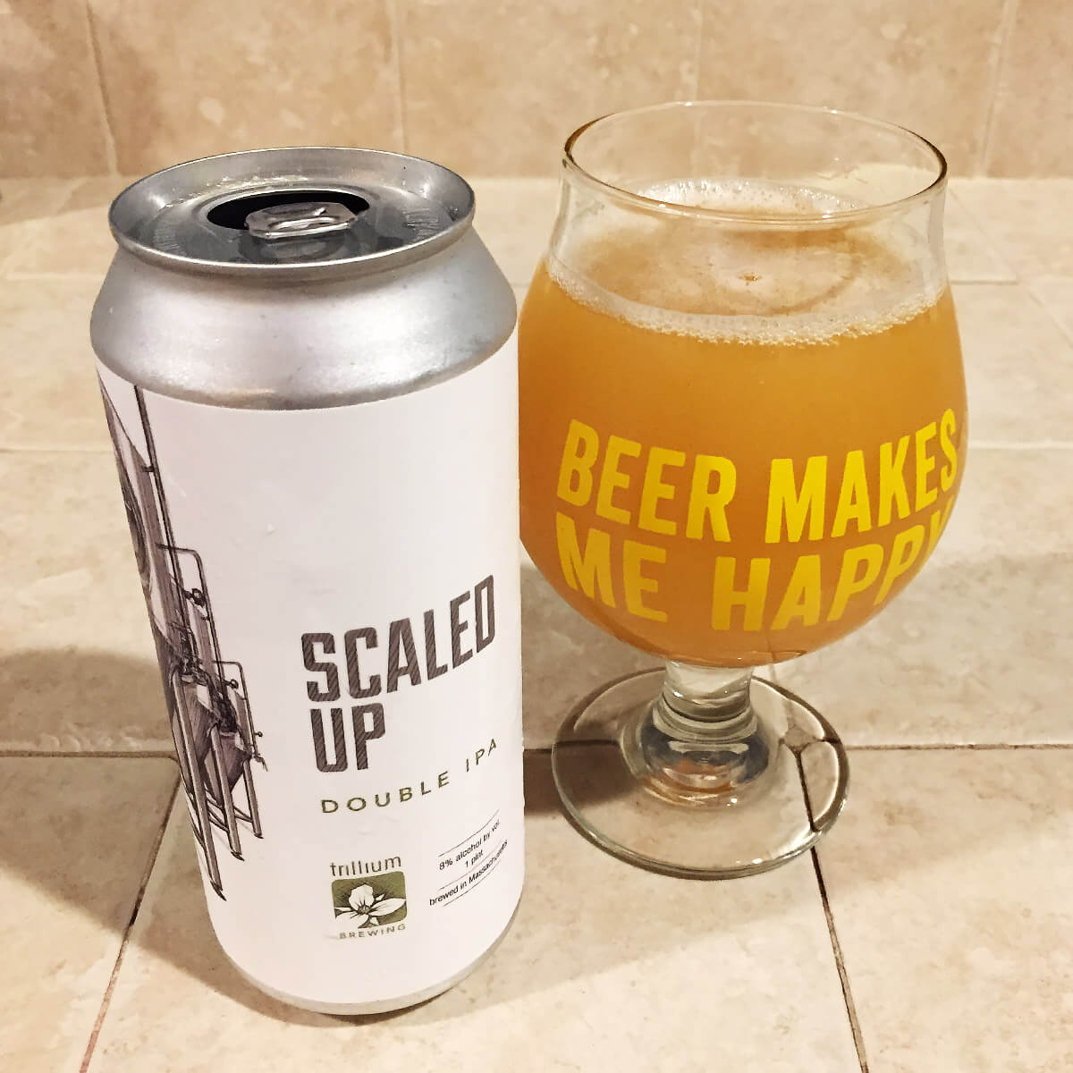 Scaled Up, an American Double IPA (in the New England style) by Trillium Brewing Company