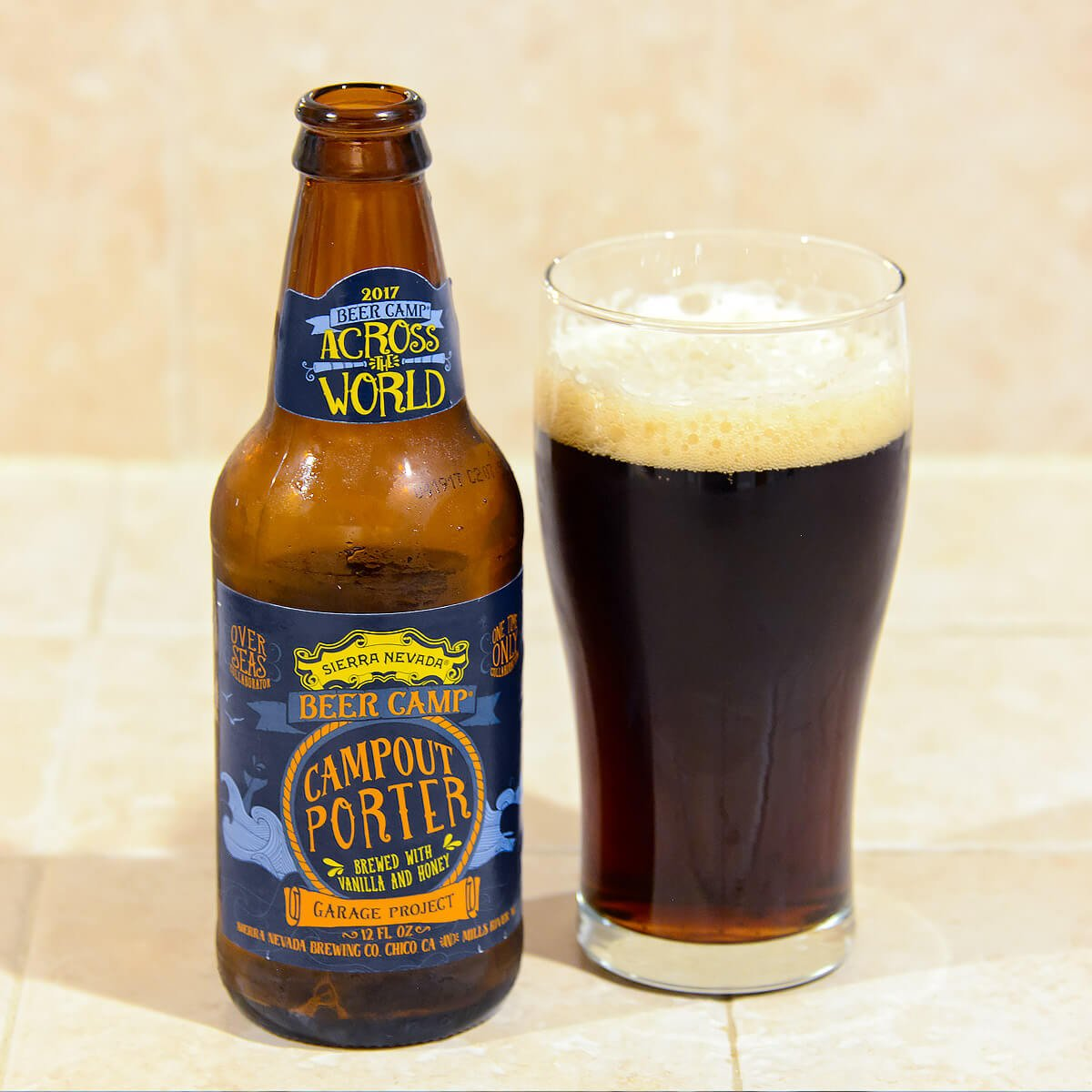 Campout Porter, an American Porter by Sierra Nevada Brewing Co. and Garage Project