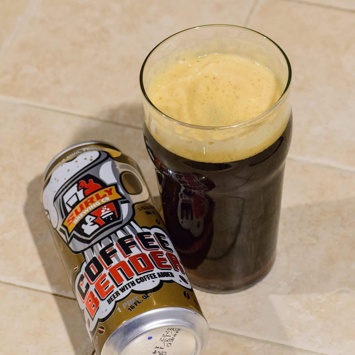 Coffee Bender, an American Brown Ale by Surly Brewing Co.