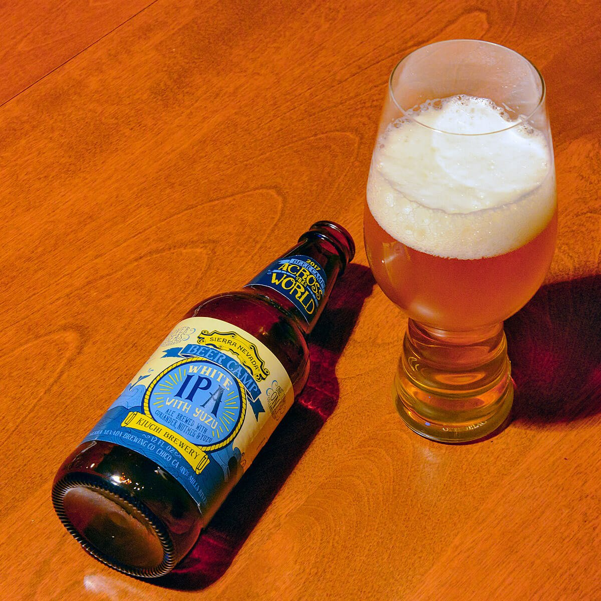 White IPA With Yuzu, a Belgian IPA by Sierra Nevada Brewing Co. and Kiuchi Brewery