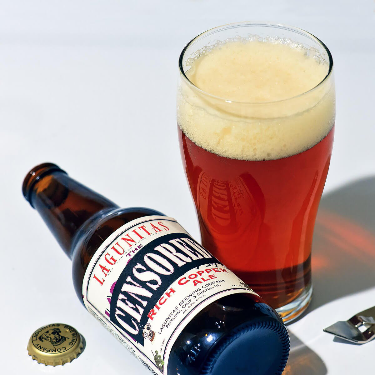Censored, an American Amber Ale by Lagunitas Brewing Company