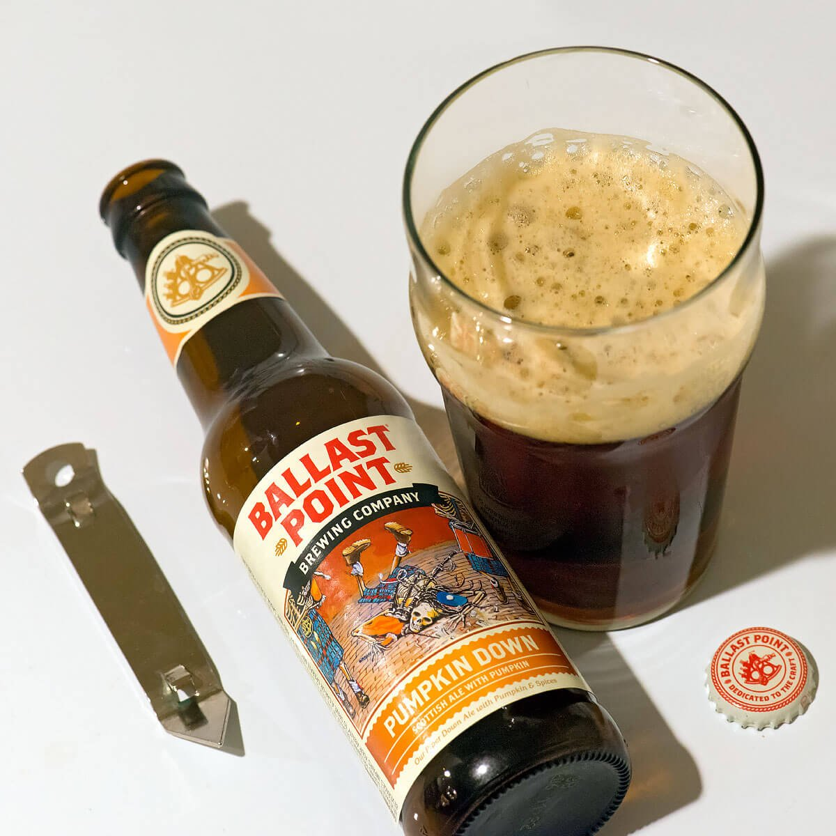 Pumpkin Down, a Scottish Ale by Ballast Point Brewing Company
