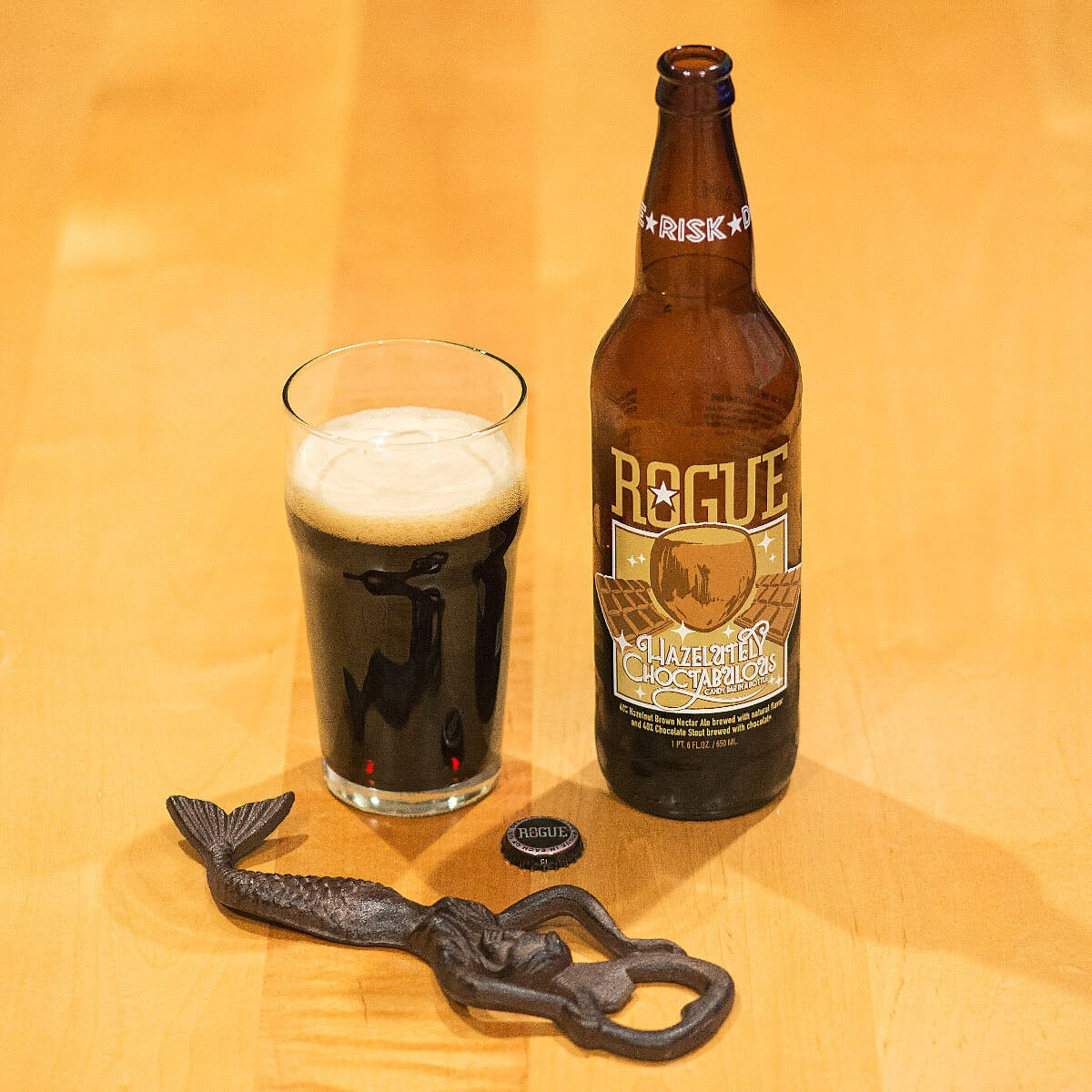 Hazelutely Choctabulous, a Sweet Stout by Rogue Ales