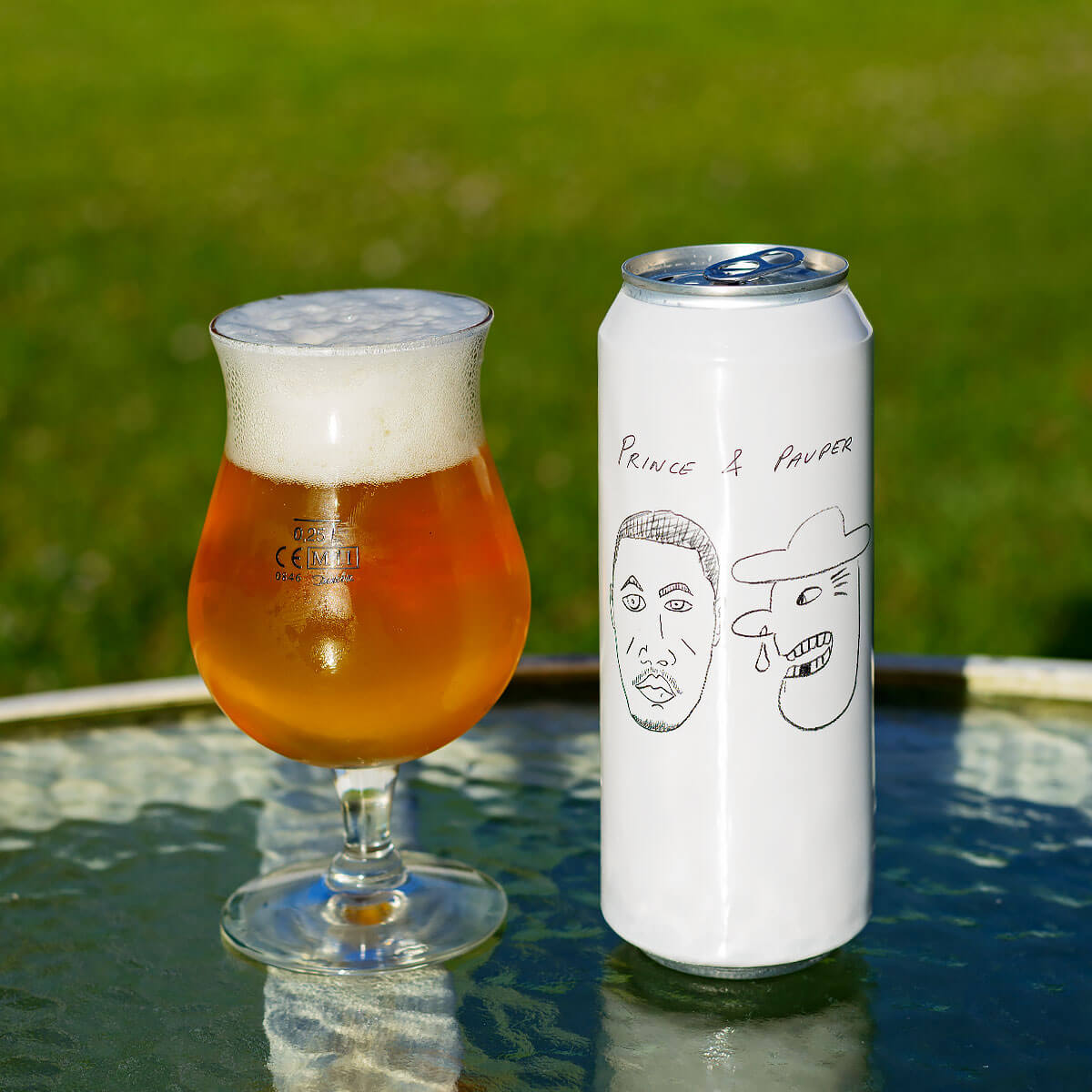 Prince & Pauper, a Belgian-style Saison by Mikkeller ApS and Omnipollo