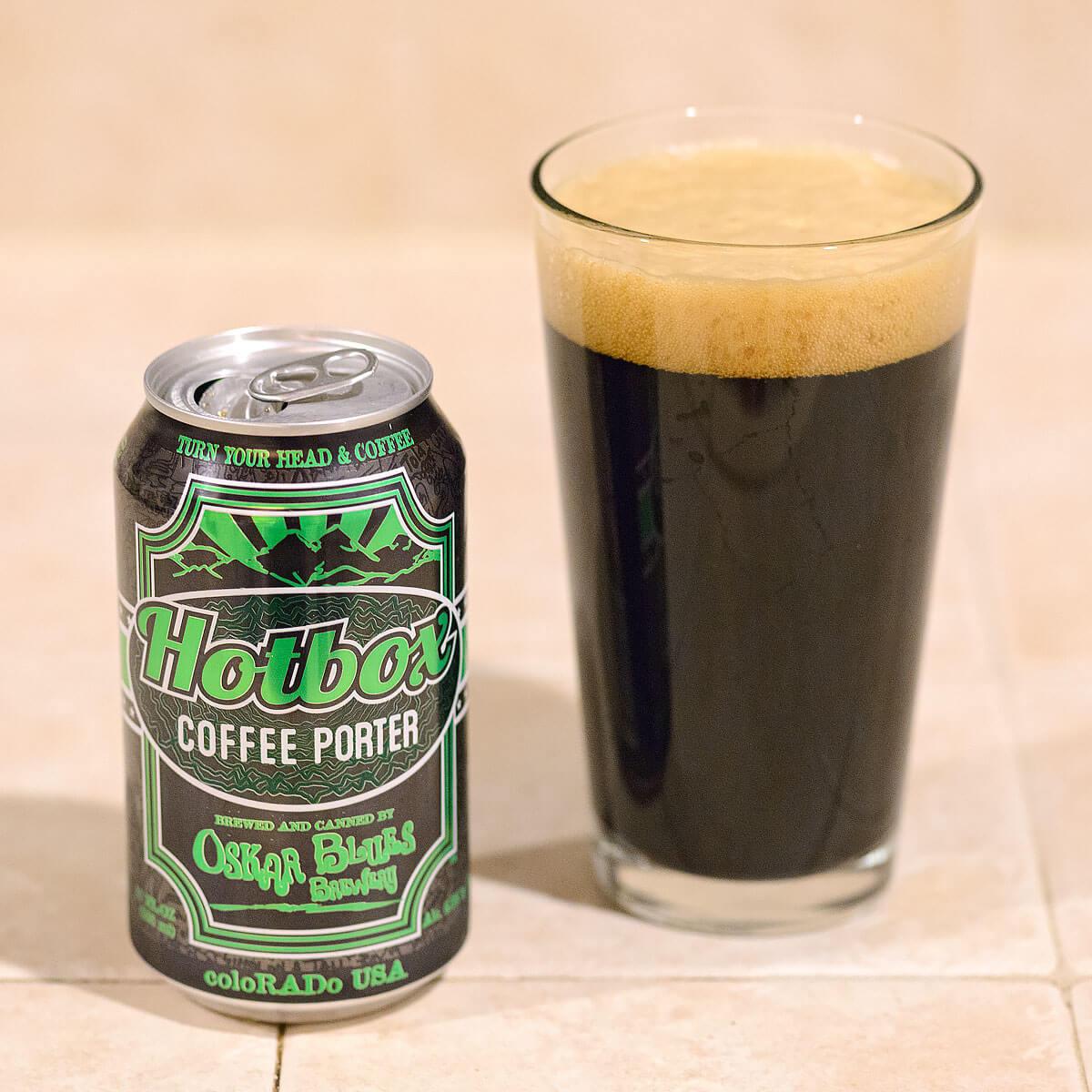 Hotbox Coffee Porter, an American Porter by Oskar Blues Brewery