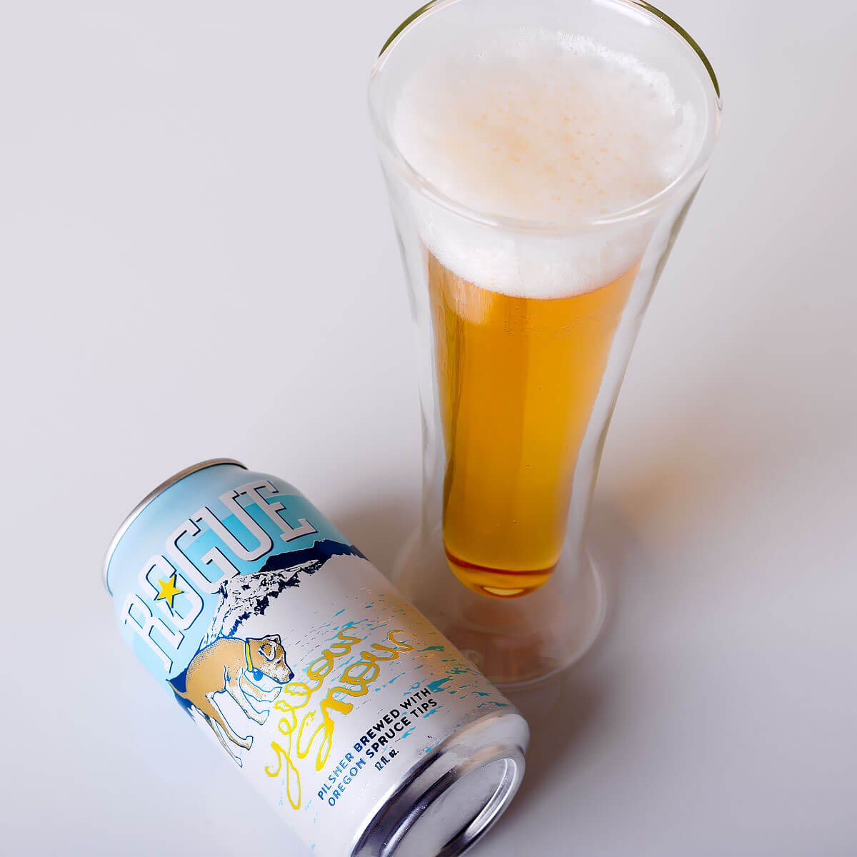 Yellow Snow Pilsner, a German-style Pilsener by Rogue Ales