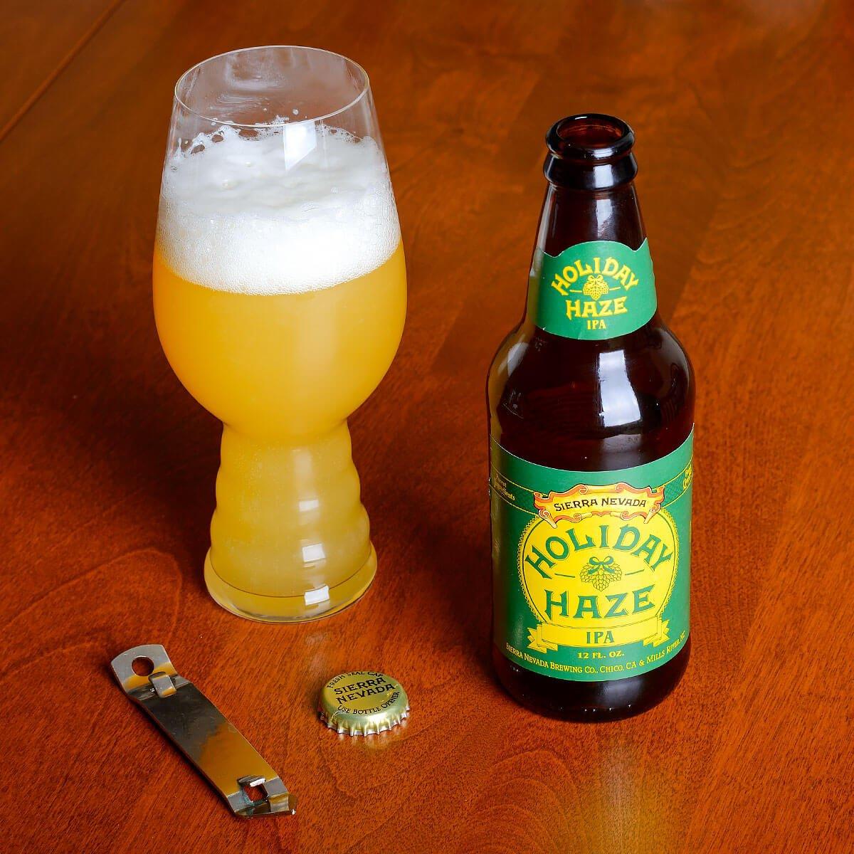 Holiday Haze IPA, an American IPA by Sierra Nevada Brewing Co.