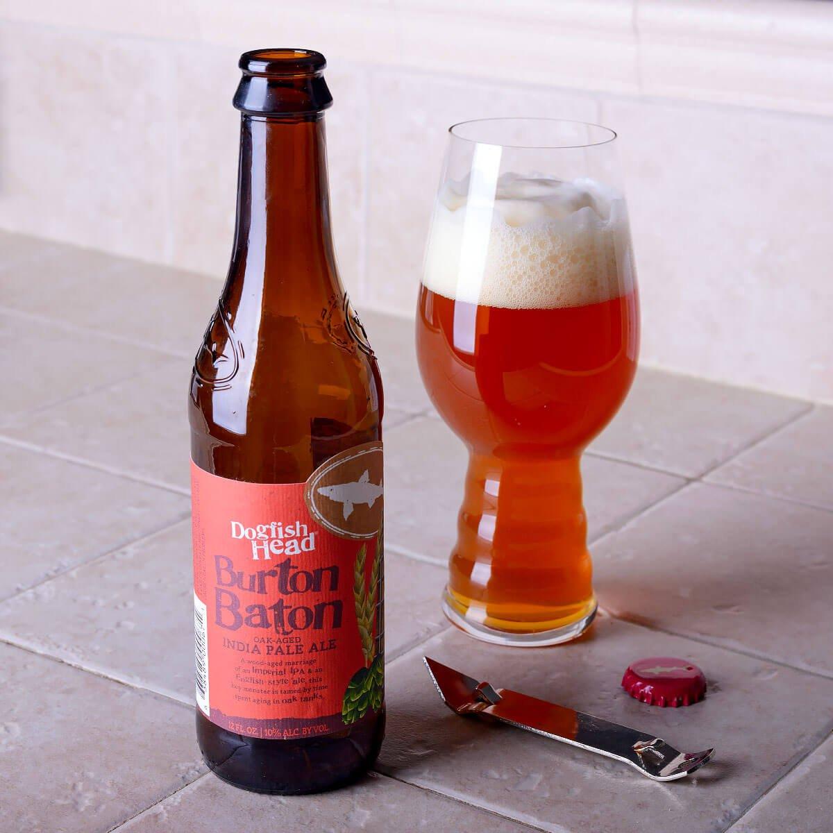 Burton Baton, an American Double IPA by Dogfish Head Craft Brewery