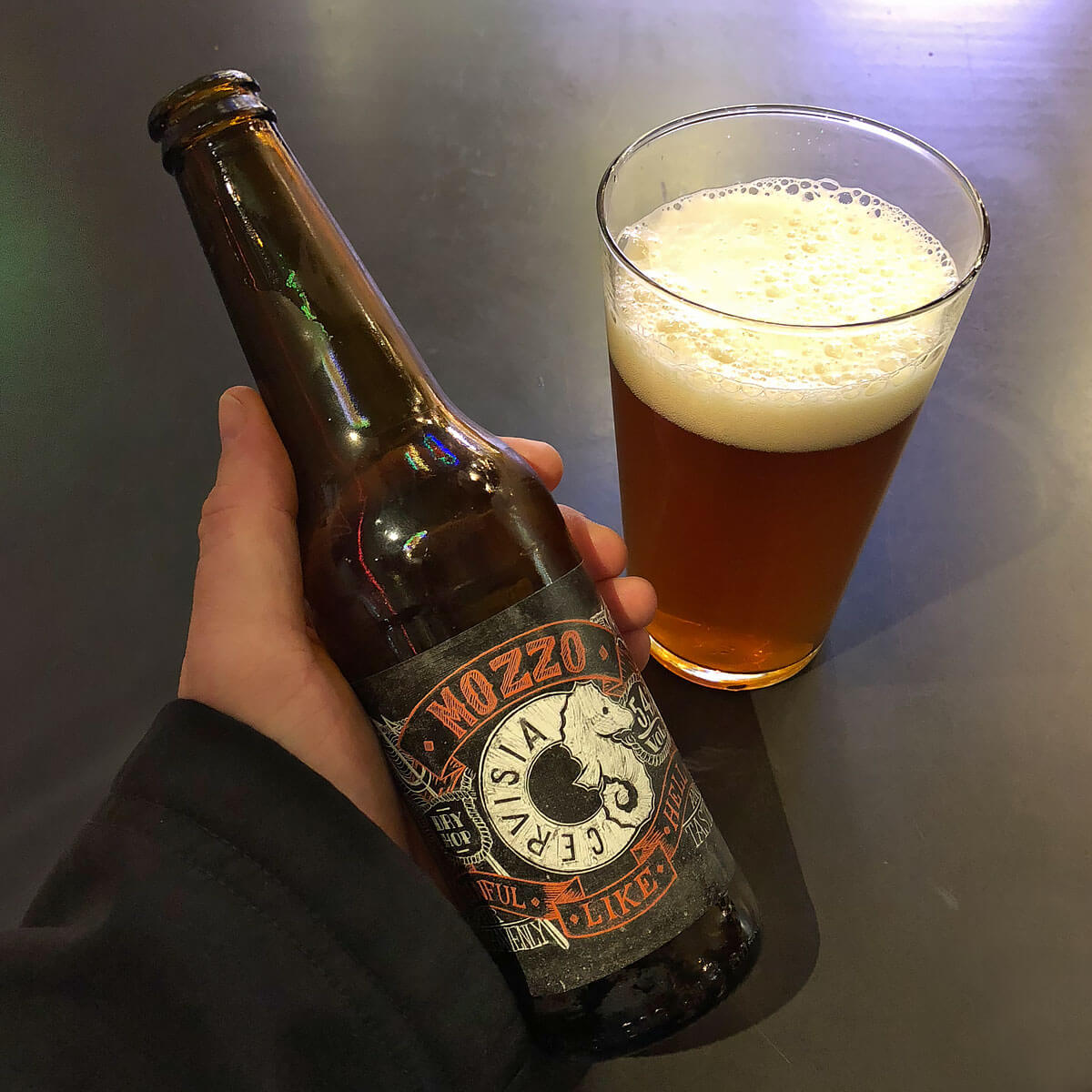 Cervisia Mozzo, an American-style Amber Ale brewed by Cervisia