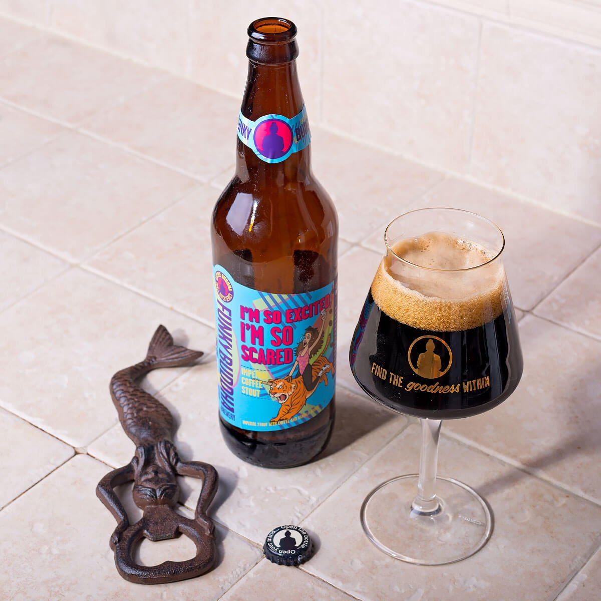 I'm So Excited, I'm So Scared, an American Imperial Stout by Funky Buddha Brewery