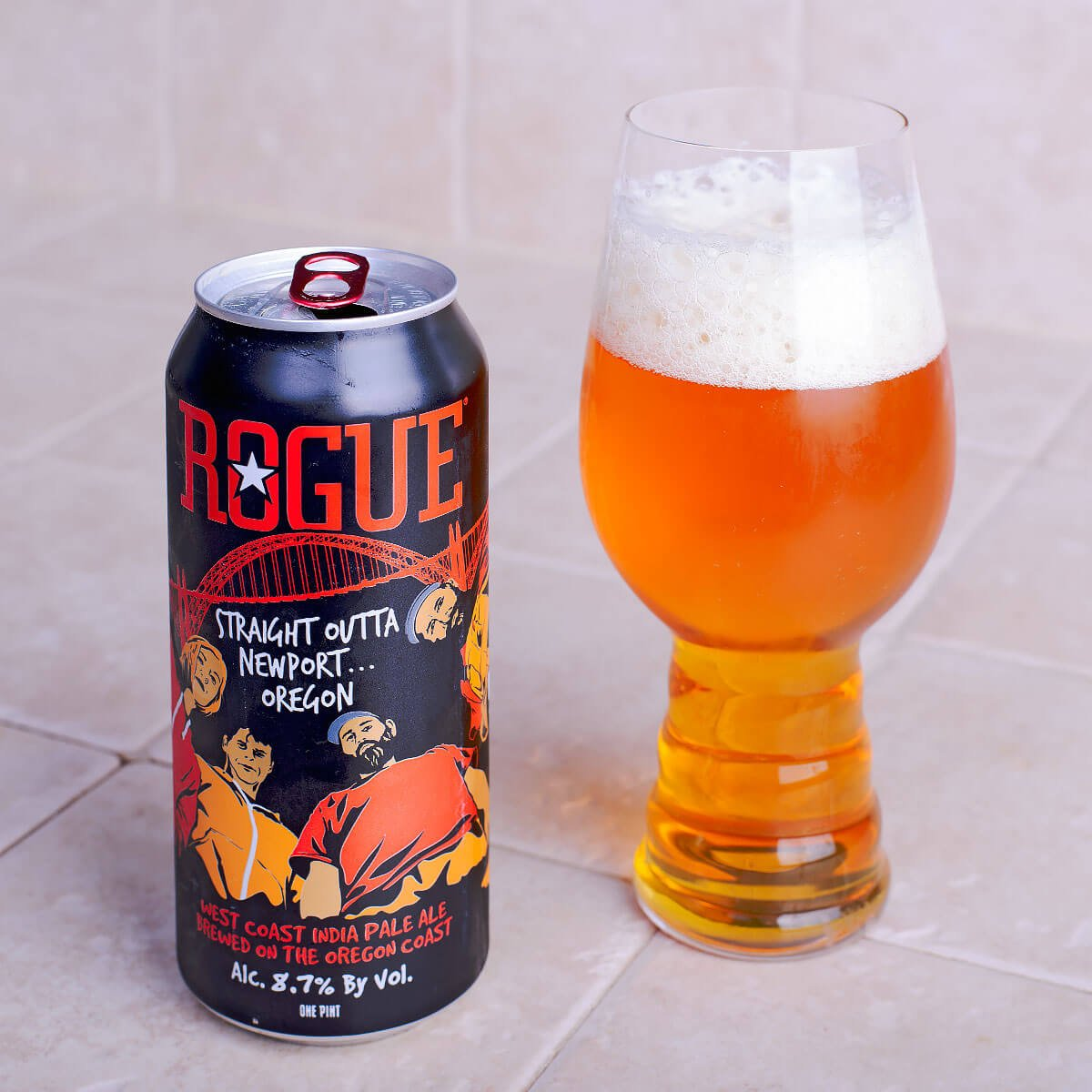 Straight Outta Newport Oregon, an American Double IPA by Rogue Ales