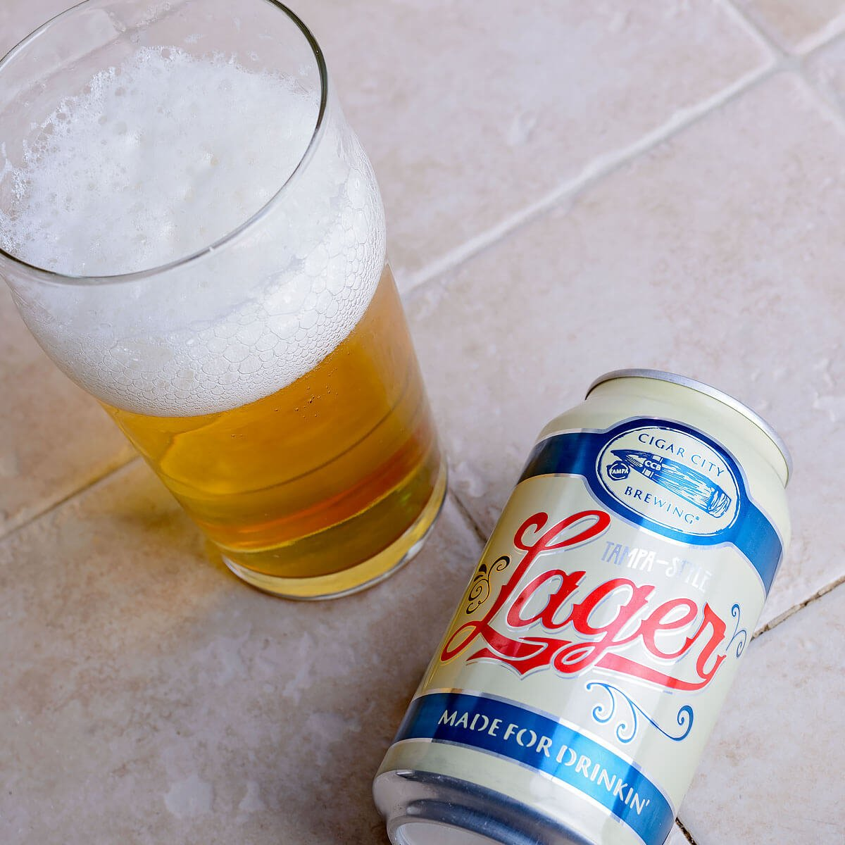 Tampa-Style Lager, a German-style Munich Helles Lager by Cigar City Brewing