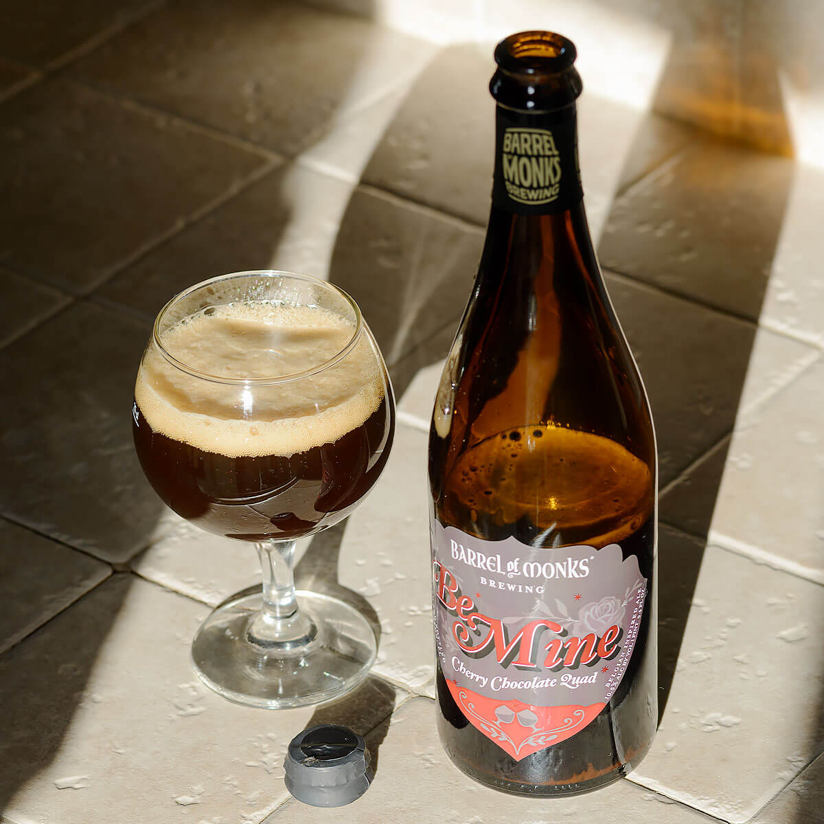 Be Mine, a Belgian-style Quadrupel by Barrel of Monks Brewing