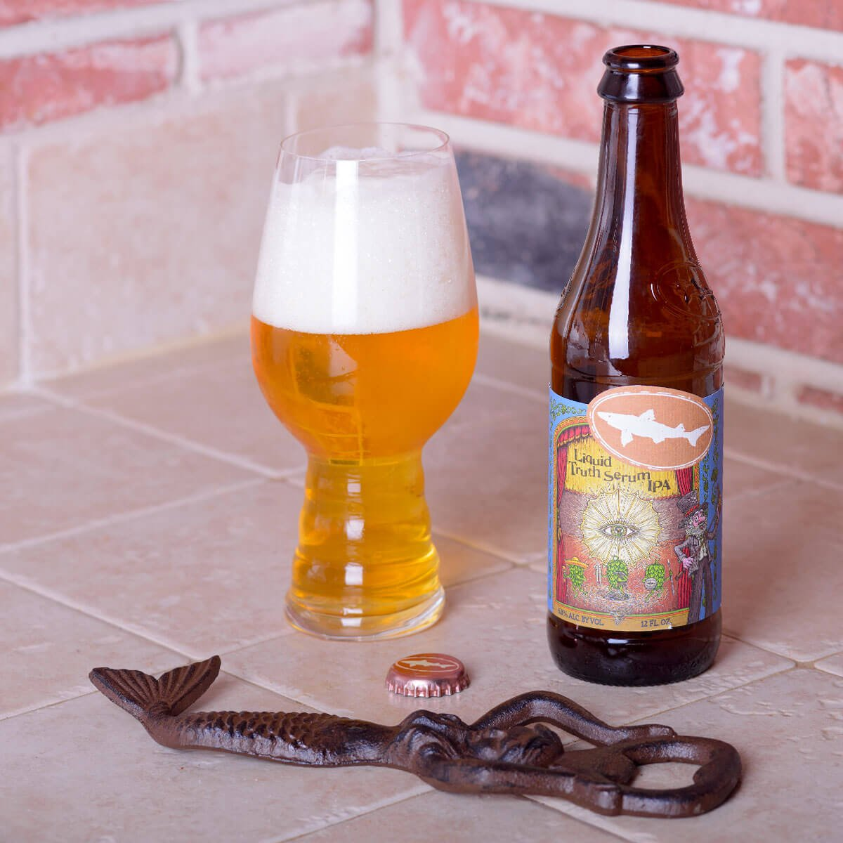 Liquid Truth Serum, an American IPA by Dogfish Head Craft Brewery