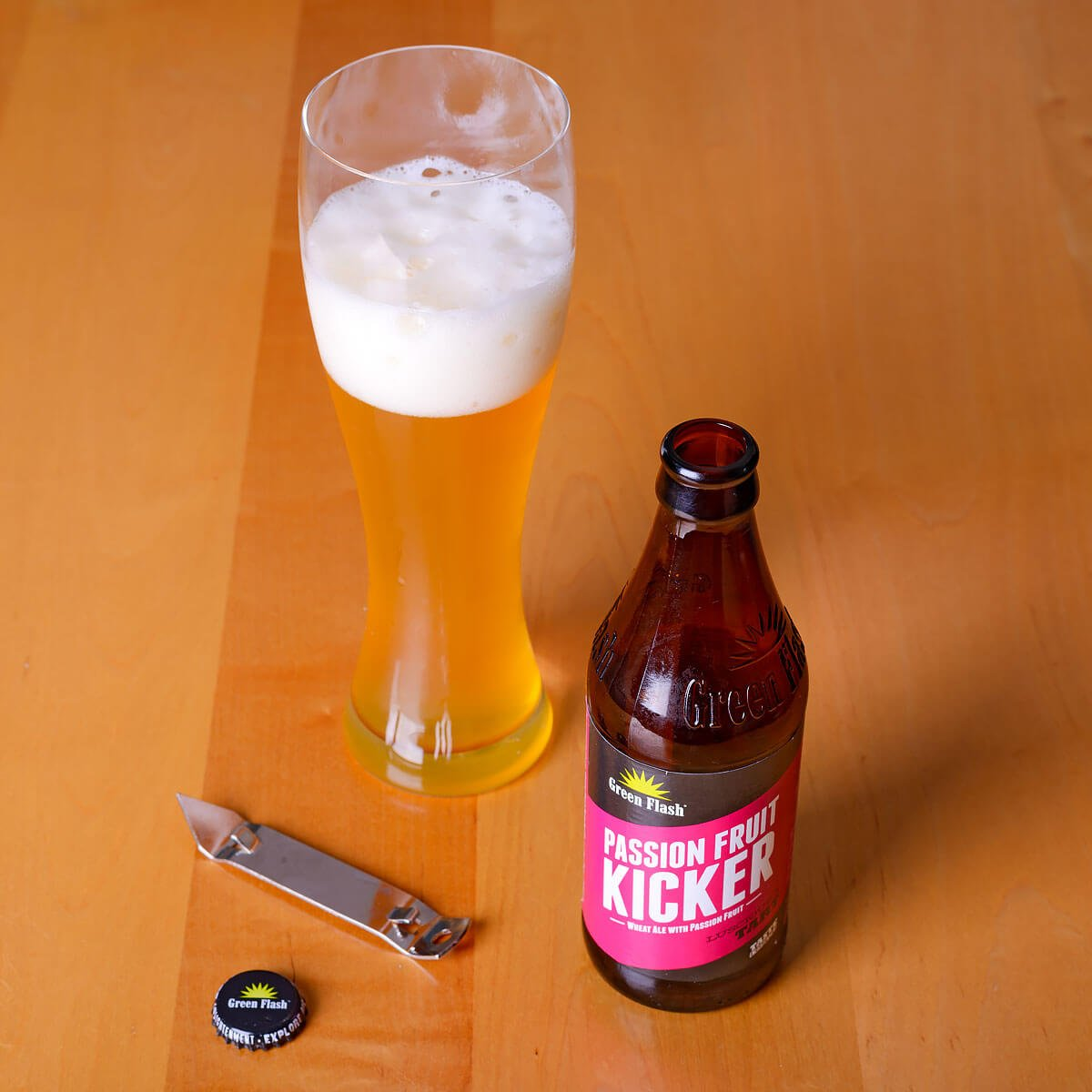 Passion Fruit Kicker, an American Wheat Ale by Green Flash Brewing Co.