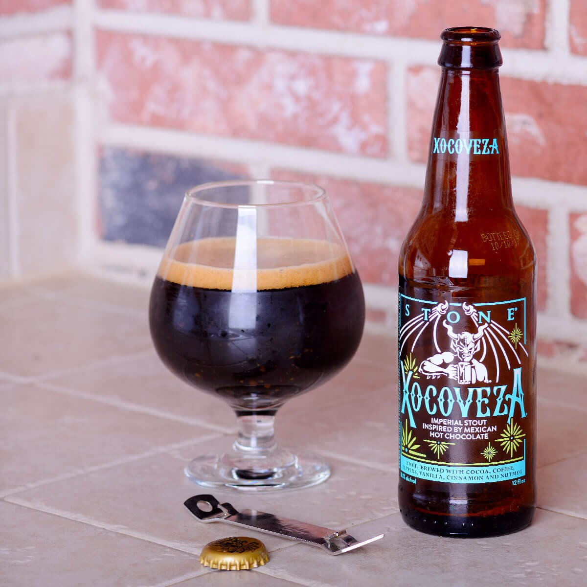 Stone Xocoveza, an American Imperial Stout by Stone Brewing
