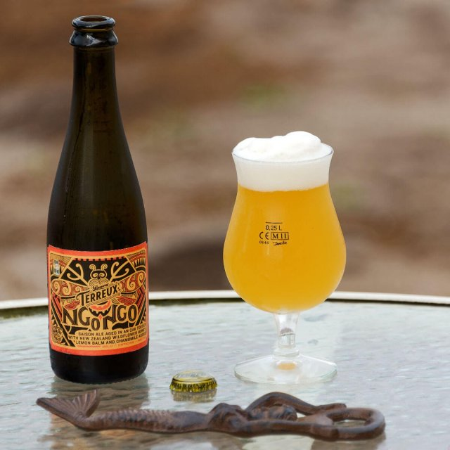 Ngongo, a Belgian-style Saison collaboratively brewed by The Bruery and Garage Project