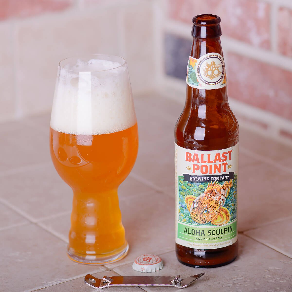Aloha Sculpin, an American IPA by Ballast Point Brewing Company