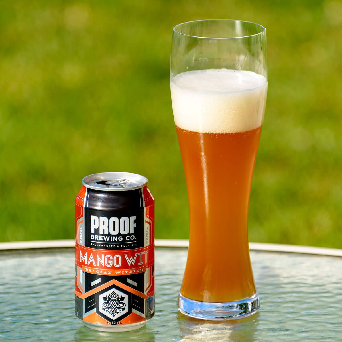 Mango Wit, a Belgian-style Witbier by Proof Brewing Co.