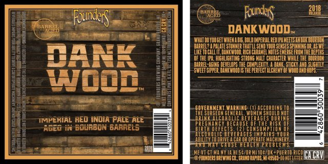 Label art for the Dankwood by Founders Brewing Co.