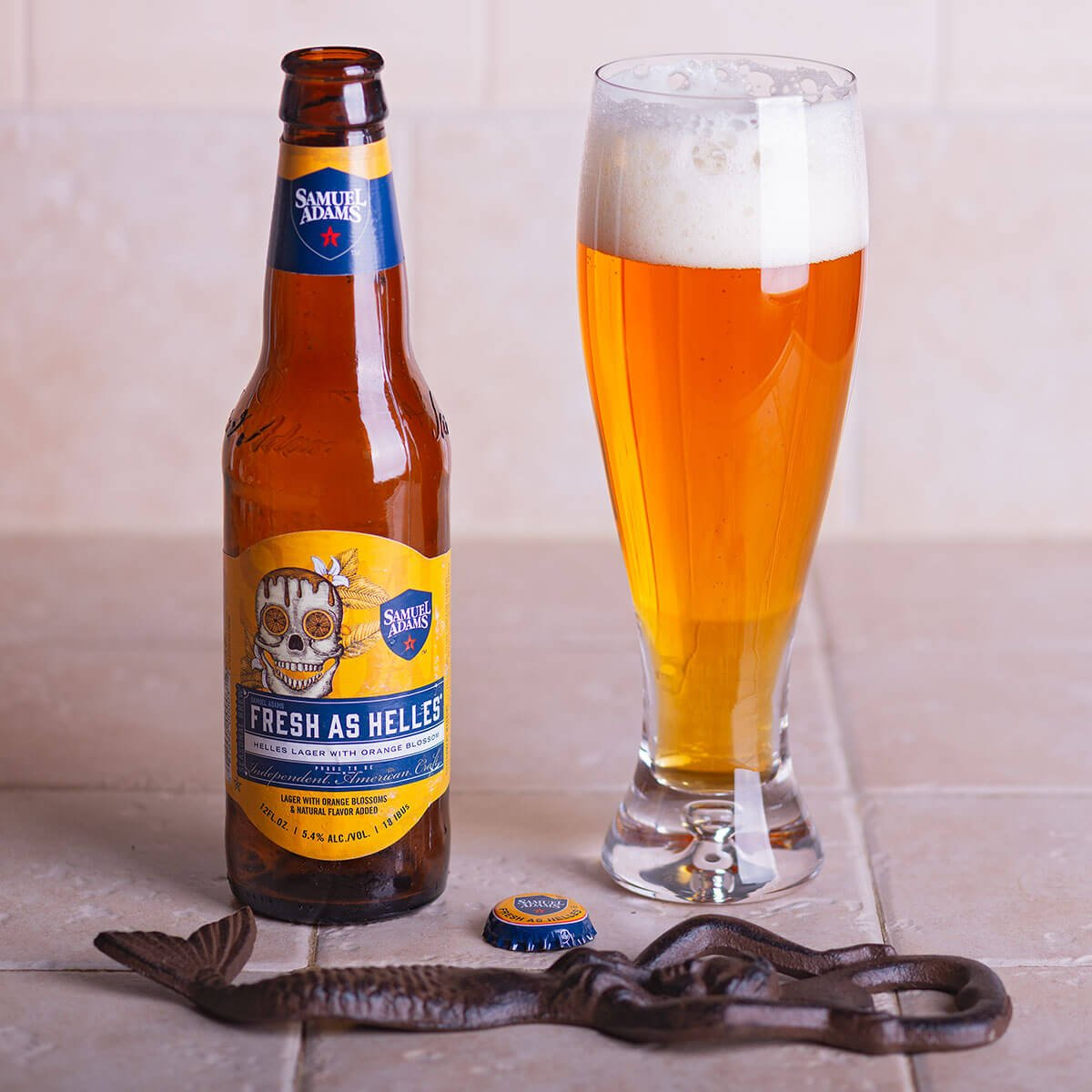 Fresh As Helles, a German-style Munich Helles Lager by the Boston Beer Company