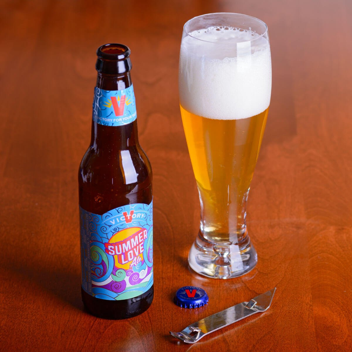 Summer Love Ale, an American Blonde Ale by Victory Brewing Company
