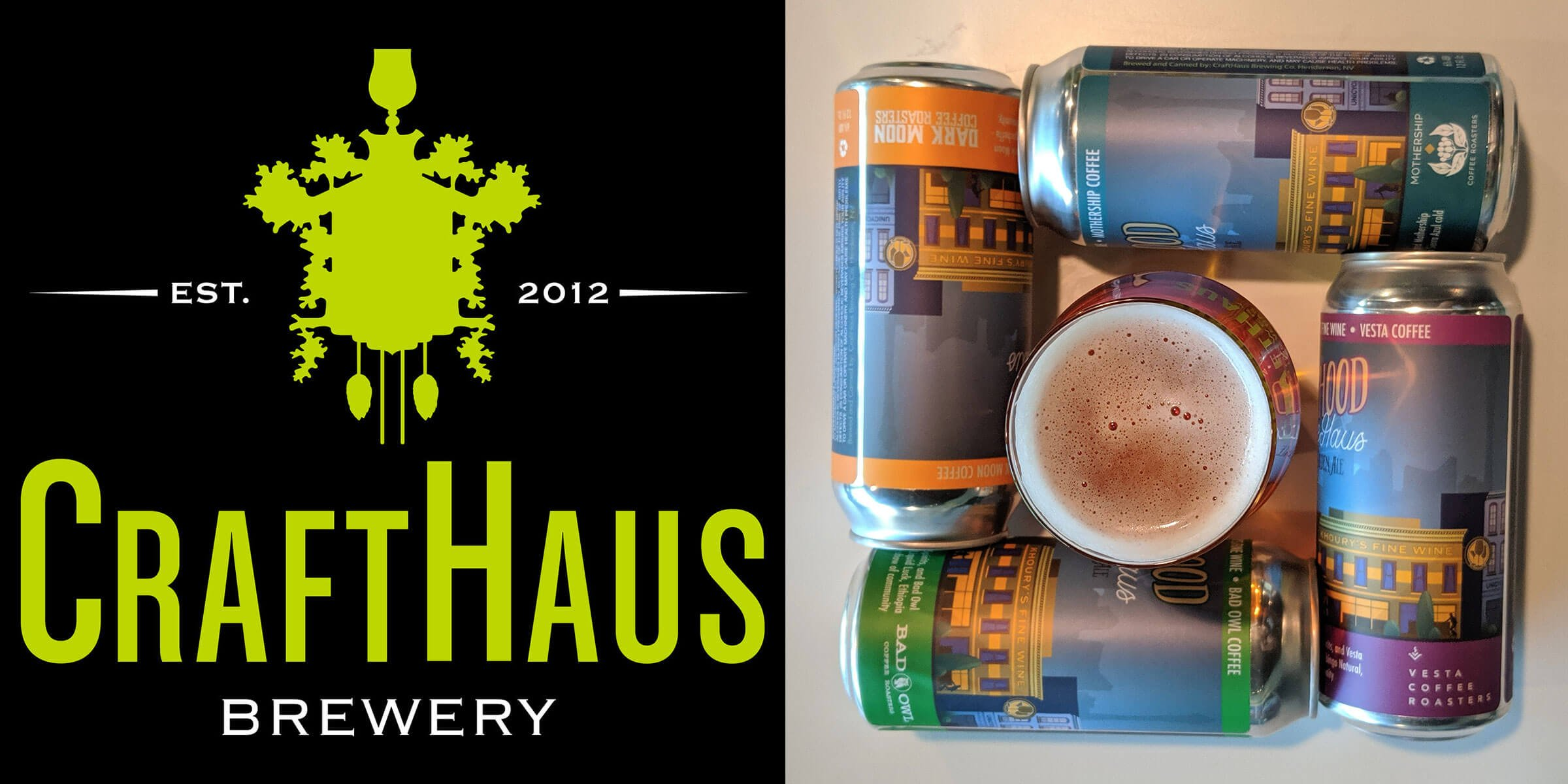 CraftHaus Brewery is releasing a mixed pack featuring cold brews fron four local coffee roasters infused into the Neighborhood CoffeeHaus Golden Ale.