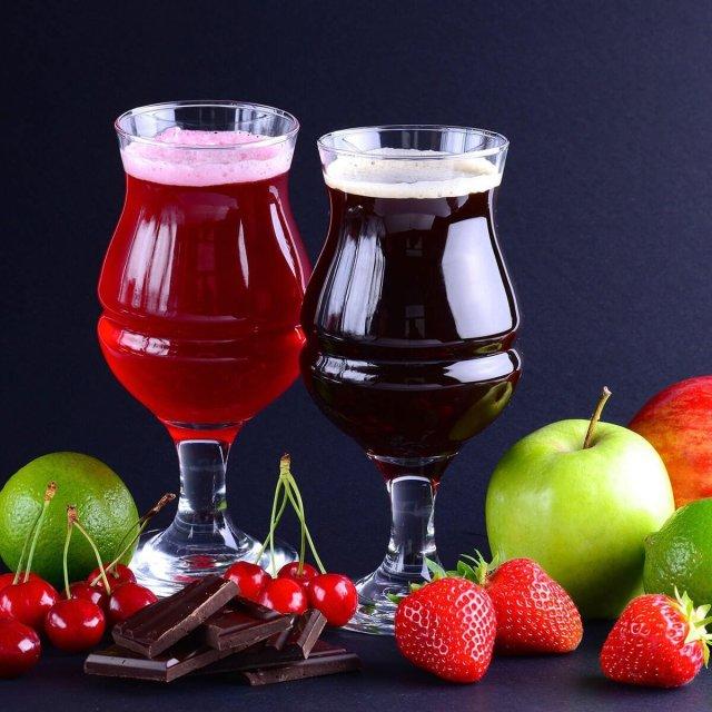 Fruit Beer in a Tulip Glass