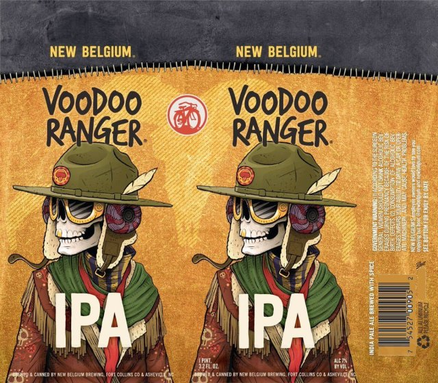 Label art for the Voodoo Ranger IPA by New Belgium Brewing Company