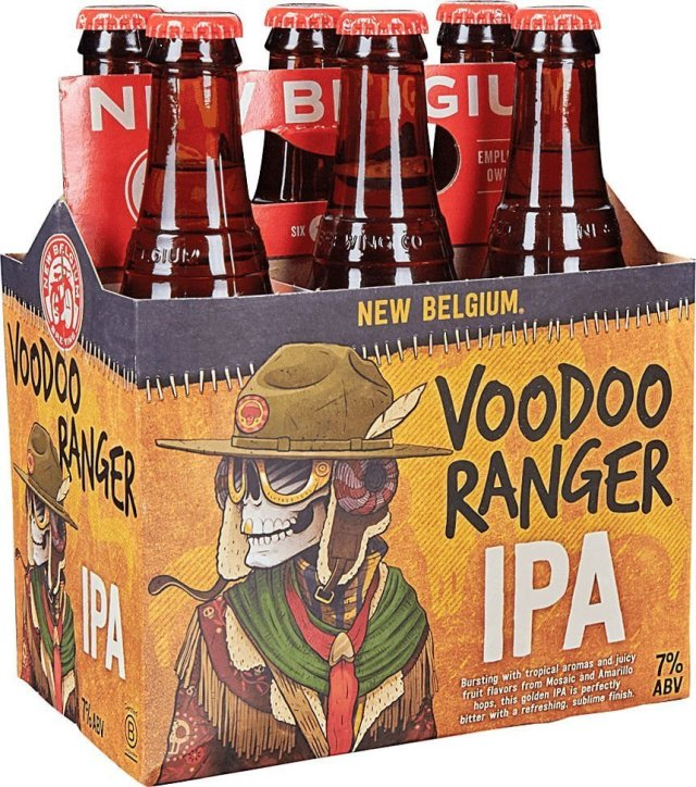 Packaging art for the Voodoo Ranger IPA by New Belgium Brewing Company