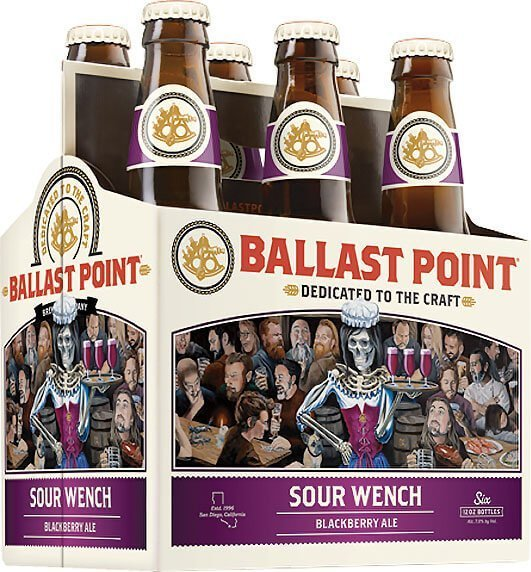 Packaging art for the Sour Wench by Ballast Point Brewing Company