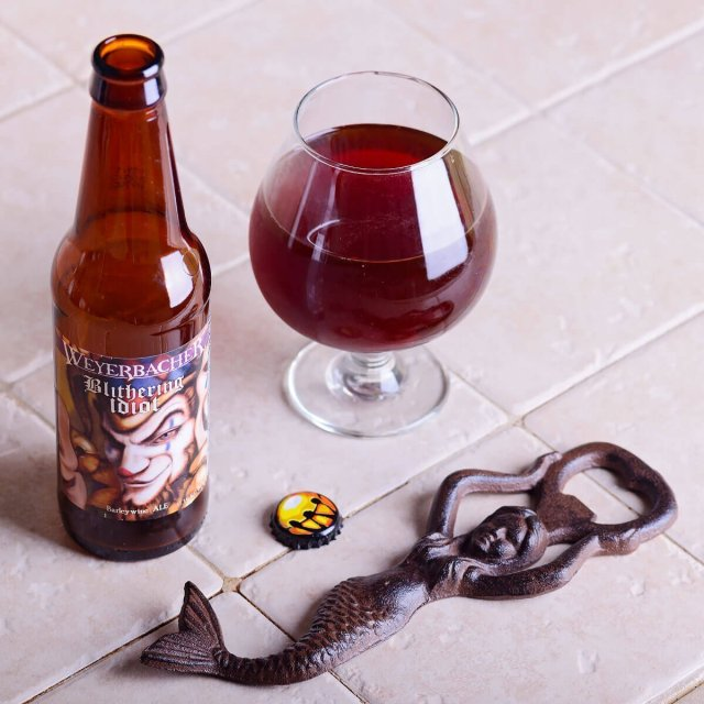 Blithering Idiot is an English-style Barleywine by Weyerbacher Brewing Co. that's complex with a sugary and fruity sweetness balanced by earthy hops, pepper, and booze.