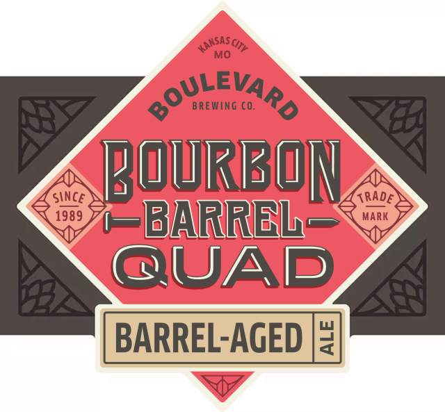 Label art for the Bourbon Barrel Quad by Boulevard Brewing Co.