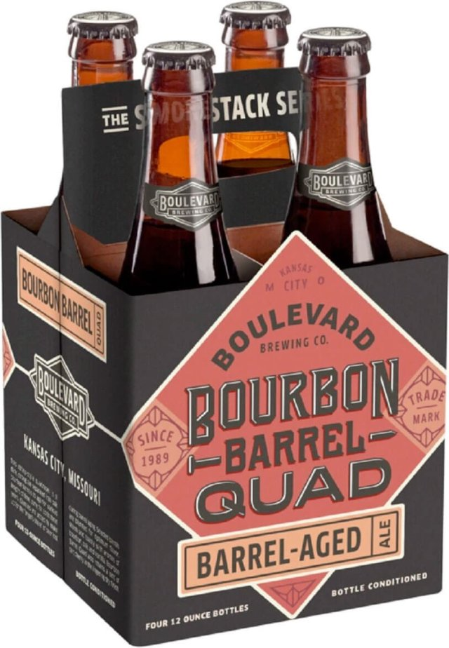 Packaging art for the Bourbon Barrel Quad by Boulevard Brewing Co.