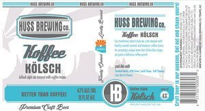 Label art for the Koffee Kölsch by Huss Brewing Co.